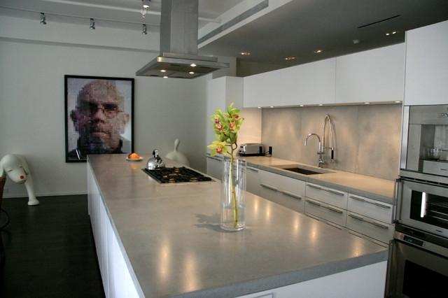 modern concrete countertops